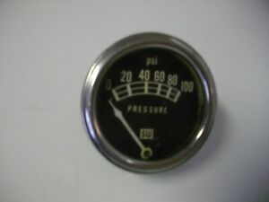 Vintage Stewart Warner Manual Oil Pressure Gauge 833215