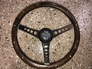 Vintage 13 5 Wood Steering Wheel Mg Triumph Austin Healey