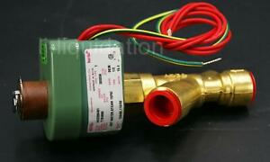 Asco Red Hat Hv2206491 1 2 Hot Water Steam Solenoid Valve 15 Psi 120 60 110 50