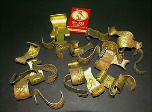 25 Pc Lot Picture Molding Rail Hook Brass Painting Tapestry Hangers