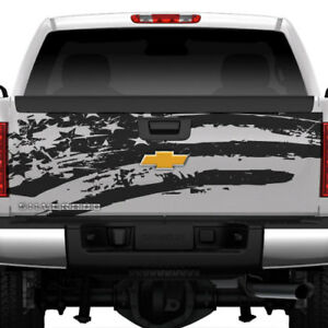 American Flag Tailgate Distressed Grunge Truck Suv Rear Car Vinyl Decal Graphic