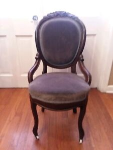 Antique Mahogany Parlor Accent Chair