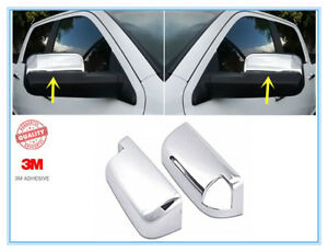 For 2010 2018 Dodge Ram 1500 2500 3500 Chrome Side Mirror Cover W Towing