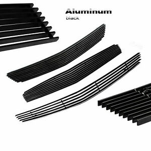 Black Front Combo Billet Grille Insert Fit 2008 2012 Chevy Malibu Grill 3pcs