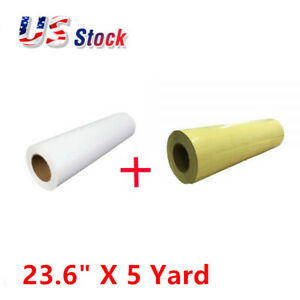 1 Roll Printable Heat Transfer Vinyl With 1 Roll Application Tape 23 6 X 5 Yard