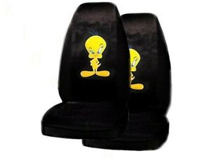 Universal Tweety Front Car Seat Covers High Back 2pcs