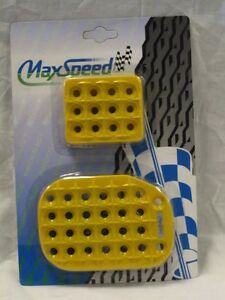 Universal Pedal Cover Yellow Manual 3pcs set