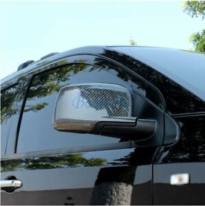 For Dodge Journey Jucv 2009 2018 Carbon Fiber Mirror Overlay Rear View Cover