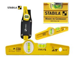 New Stabila 81sm Die Cast Magnetic Level With Holster 02511 250mm 10 Genuine