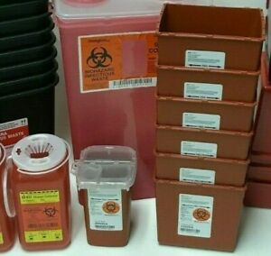 Sharps Container Biohazard Needle Disposal Sizes 1 Qt 1 4 Qt 2 2 Qt