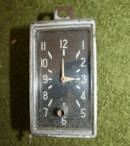 Borg Clock By The George W Borg Corporation 1949 1950 1951 1952 1953 1954 1955