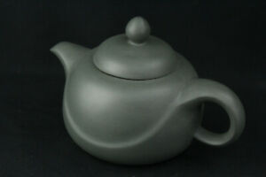 Antique Chinese Yixing Zisha Teapot Handmade Green Clay Stamped W Maker Mark