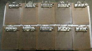 Lot Of 10 Vintage Arched Clipboards Binders Locking Receipt Holders 10 X 7 Inch