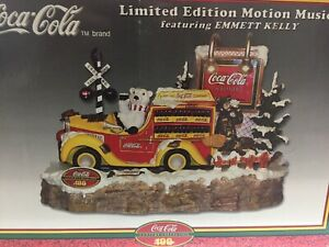New Coca Cola Limited Edition Motion Musical Display Featuring Emmett Kelly