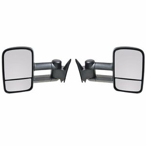 Left Right 88 98 Chevy C K 1500 2500 3500 Manual Towing Tow Hauling Side Mirrors