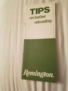 Vintage Tips on Better Reloading Remington Guide. 1974 $2.75