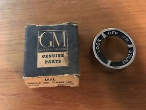 Vintage Nos 1958 Chevy Chevrolet Ignition Switch Bezel Part 3747138