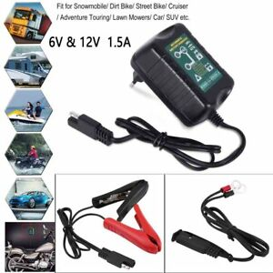 Automatic Battery Charger 6v 12v 1 5a Trickle Charger For Harley Davidson