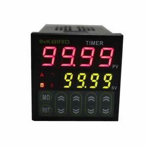 Inkbird Digital Twin Timer Relay Time Delay Relay Switch 110 220v Black Idt e2rh