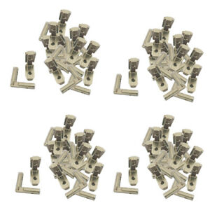 80pcs T Slot 90 Degree Profile Interior Corner Bracket Connector Joint