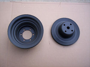 Mopar 440 Six Pack Upper Lower Crankshaft Water Pump Pulleys W P S