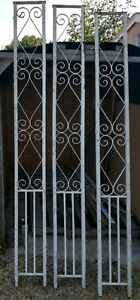 Vintage Wrought Iron Architectural Columns