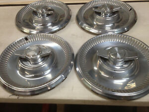 1973 Caprice Monte Carlo And Impala Hubcaps With Corvette Spinners