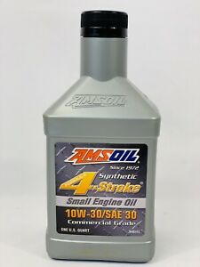 Amsoil Synthetic 4 Stroke 10w 30 Sae 30 Commercial Grade Small Engine Oil 1 Qt