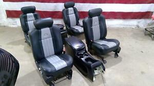 01 03 Ford F150 Harley Davidson Power Seat Set With Consoles Front Rear