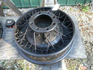 Vintage 18 X 3 1 2 Wire Spoke Wheel Buick Cadillac Truck Chevy 8 Lug