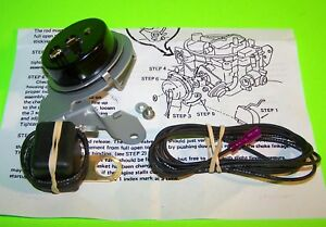 Electric Choke Conversion Kit 1970 72 73 74 Chevrolet Rochester Quadrajet