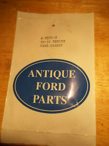 Zenith Carburetor Model A | OEM, New and Used Auto Parts For
