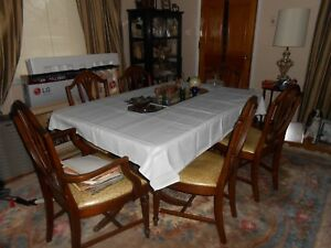 Vintage Duncan Phyfe Dining Room Set Table 6 Chairs 1 Captain 5 Normal