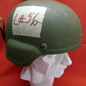 ACH MICH USED Helmet MSA size LARGE PADS Chinstrap Green L # 56