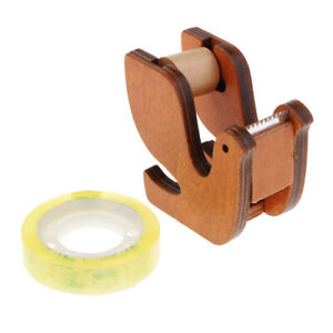 Cute Bird Wooden Tape Dispenser office Desktop Accessories With Clear Tapes