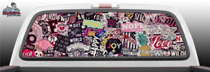 Sticker Bomb Stickers Perforated Perf Vinyl Rear Window Decal Graphic Truck Suv