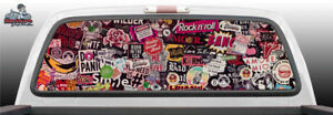 Sticker Bomb Stickers Perforated Vinyl Perf Rear Window Decal Graphic Suv Truck