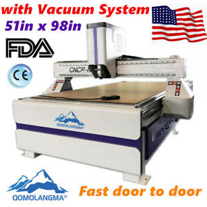 3kw Cnc Router Engraving Cutting Machine 1300x2500mm Vacuum Table Dust Collector