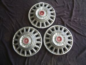 1968 Ford Mustang 14 Deluxe Wheel Covers Hub Caps Hubcaps C8zz 1130 E Set Of 3