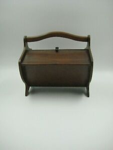 Vintage Child S Small Wood Sewing Box Used