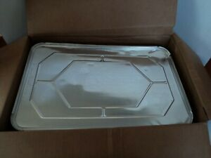 Choice Brand Disposable Aluminum Foil Steam Table Pan Lids 50 Ct Full Size