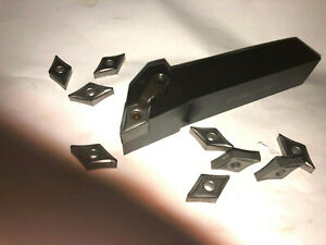 New Dcmt Lathe Tool Holder With 10 New Carbide Inserts 1 Shank