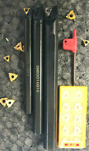 Threading Boring Bar Tool Set W 10 Inserts Id Threading