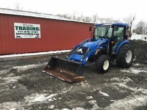 2009 New Holland Boomer 4055 4x4 Compact Tractor W Cab Loader