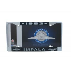 1963 Chevy Impala License Plate Frame With Chevrolet Bowtie