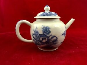 Antique Chinese Porcelain Blue And White Teapot Qianlong Style