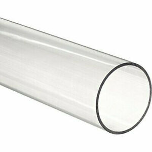 Cast Acrylic Round Tube Clear 1 1 2 Id X 2 1 4 Od X 24 Length