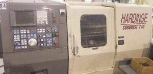 Hardinge Conquest T42 Cnc Lathe W C axis Live Tool Holders And A Bar Feeder