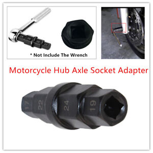 Hub Axle Socket Adapter Motorcycle Front Wheel Hex Allen Spindle Tool Wrenches