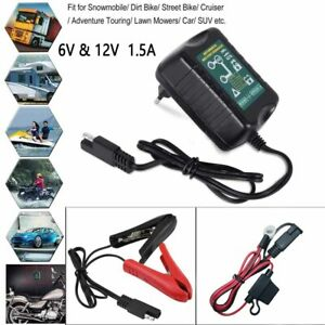 Automatic Battery Charger 6v 12v 1 5a Trickle Charger For Rv Motorcycle Vehicl